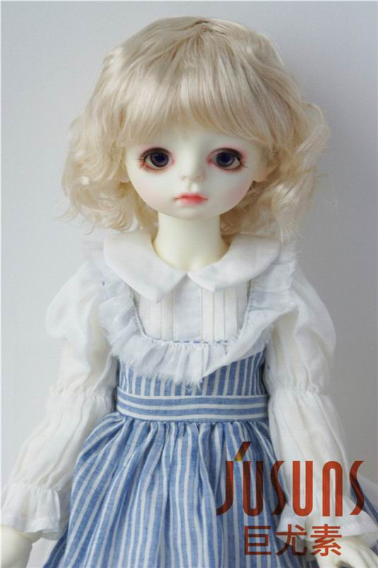 Image 3 - JD260 Large Size 9 10 inch 10 11inch Doll Wig Pretty synthetic mohair BJD wigs Lady slight Wave doll hair doll accessoriesDolls Accessories   -