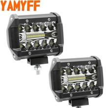 4 Inch LED Bar LED Bar voor Rijden Offroad Boot Auto Tractor Truck 4x4 SUV ATV 12V 24V Nominale 60W Werkelijke 15W Combo Beam