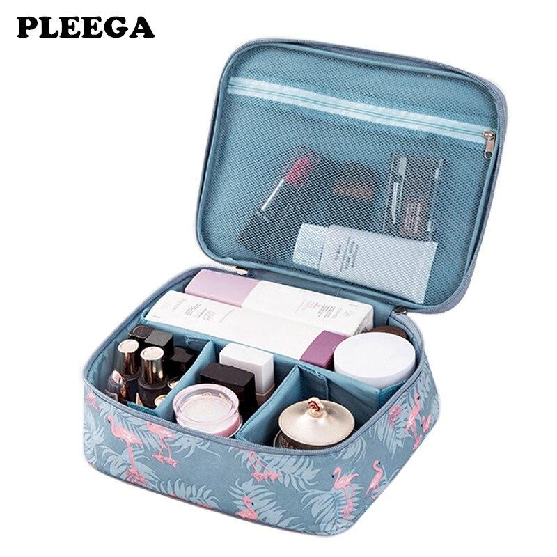 PLEEGA Multifunction Women Make Up Makeup Organizer Bag Cosmetic Bag Toiletry Portable Outdoor Travel Kits Business Storage Bag