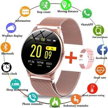 2021 New Color Screen Smart Watch Women Men Waterproof Sport Fitness watch Heart rate blood pressure tracker For Xiaomi Huawei 1