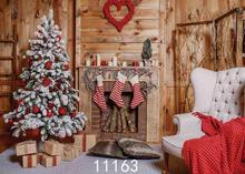 цена на Vinyl Custom Photography Backdrops Prop Christmas day Christmas Tree Theme Photo Studio Background ST-1855