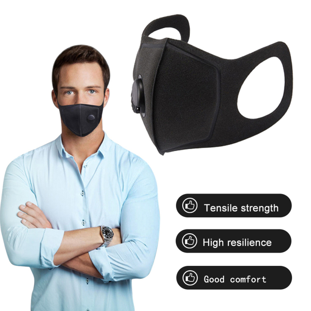 Fast Ship 6 Pcs Dust Proof Mask Washed Reusable Filter Anti PM2.5 Air Pollution Mouth Face Mask Men Women Anti Pollution Masks 2