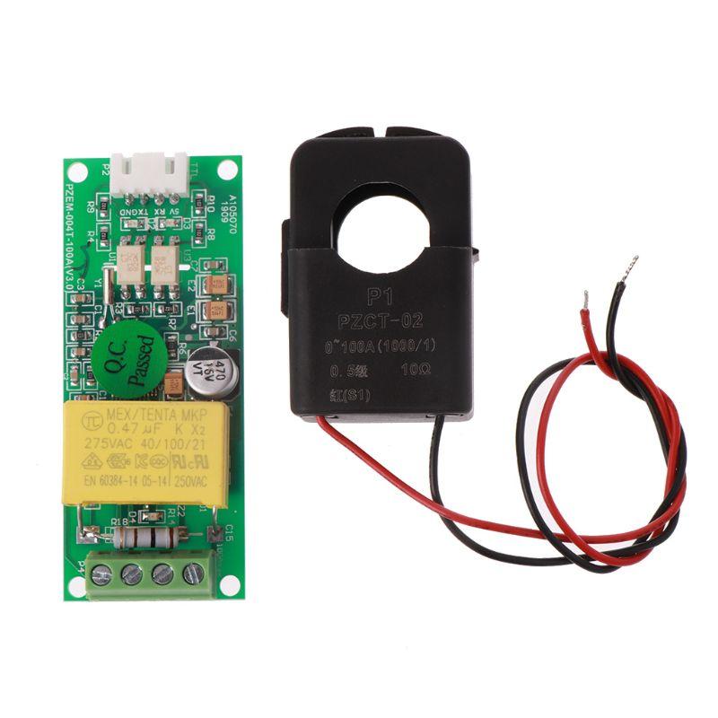2020 New DC PZEM-004T Current Voltage Multimeter Module 80-260V 100A +Split-Core Transformer 45-65Hz 100A/22000W