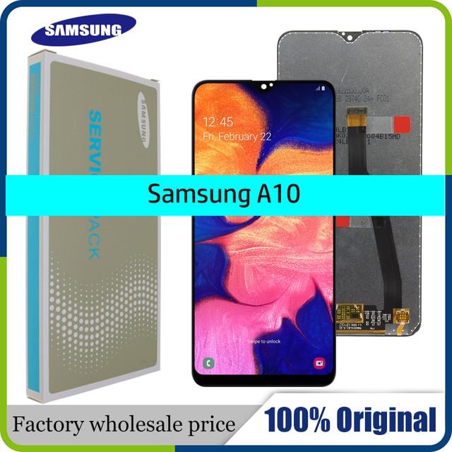 """10 ชิ้น/ล็อต Original 6.2 """"LCD สำหรับ Samsung Galaxy A10 A105 A105F SM A105F หน้าจอ LCD เปลี่ยน Digitizer ASSEMBLY"""