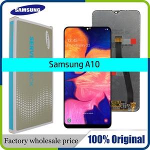 Image 1 - Pantalla LCD Original de 6,2 pulgadas para Samsung Galaxy A10, A105, A105F, SM A105F, 10 unidades/lote