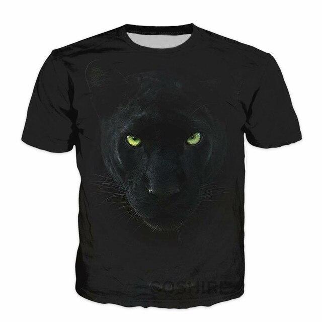 SOSHIRL Fierce Leopard T Shirt Hipster Animal 3d T-shirt Cat Tiger Summer Streetwear  Harajuku Unisex Classic Top Punk Black Tee 6
