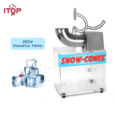ITOP 200W Ice Crusher Shaver Machine Electric Snow Cone Maker Stainless Steel Blade Shaved Ice Machine 180kgs/h automatic electric taiwanese shaved ice maker kakigori machine