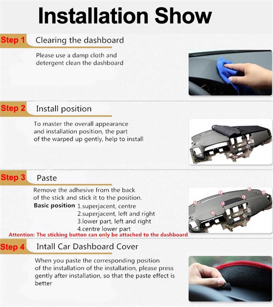 SJ lüks yumuşak özel Fit kaymaz araba iç otomatik Dashboard kapak Pad güneş gölge Dash Mat için HYUNDAI tucson 2015 16 17-2018