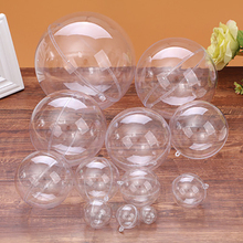 5PCS Transparent Plastic Balls Christmas Universal Gift Packing Baubles Sphere Fillable Xmas Tree Ornament Decorations 5-10cm