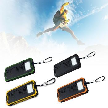Hot Solar Panel Power Bank External Battery Dual-USB Charger Convenient Camping Lamp Waterproof Shockproof Dustproof Device 1