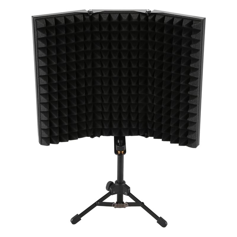 Enregistrement Sonore Absorbeur Bouclier D'isolation de Microphone Anti-Bruit 3-Pli Conception Haute Densité Panneau De Mousse, pour Appareils Enregistreurs S