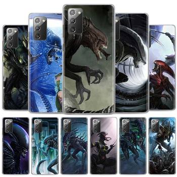 Case for Samsung Galaxy Note 10 Plus 20 Ultra 5G 10 Lite Note 8 9 10 20 Hard PC Cover Xenomorph Aliens predator Phone Cases image
