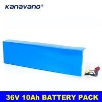 Kanavano 36v 10S4P 10Ahバイク電気自動車カーバッテリースクーターリチウム電池 500 ワット高容量 18650 リチウム電池