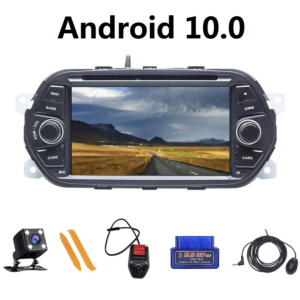 Android 10 Car Player 1Din For Fiat TIPO EGEA 2015 2017 Flash Car GPS Navigation IPS DVD CD Player|Car Multimedia Player| |  - title=