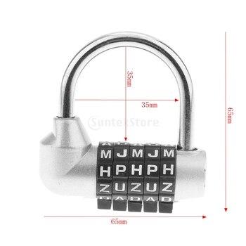 Aleación de Zinc, 5 letras de Dial, candado combinado, cerradura con código contraseña para viajes