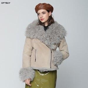 Image 1 - OFTBUY 2020 Winter Jacke Frauen Echte Doppel konfrontiert Pelzmantel Natürliche Mongolei Schafe Pelz Parka Biker Streetwear Vintage Mode