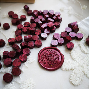 Image 4 - One Bag Sealing Wax Beads Granular Grain 32 34g around 100pcs Wax Seal tablet Multi Color Seal Wax Seal Stamp use Free Shipping