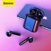 Baseus W09 TWS Bluetooth Kopfhörer Drahtlose Freihändige Kopfhörer Stereo Buletooth 5,0 Kopfhörer Gaming HD Headset Sport Kopfhörer