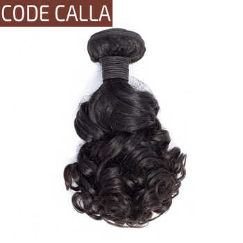 Code Calla Bouncy Curly Hair Bundles Brazilian Remy Human Hair Weave Extensions Bundles Weft Weave Natural Black 1B For Women - DISCOUNT ITEM  44% OFF All Category