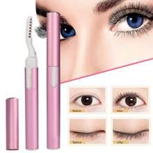 Portátil elétrico aquecido cílios modelador de maquiagem cílios de longa duração cílios modelador de calor para cosméticos femininos