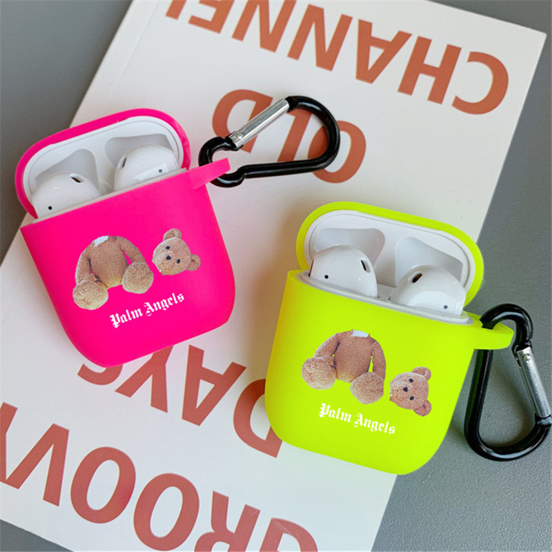 Fashion Street trend Funny bear for AirPods <font><b>case</b></font> Color <font><b>bluetooth</b></font> <font><b>headset</b></font> protective Cover for AirPod <font><b>case</b></font> Accessories soft <font><b>case</b></font> image