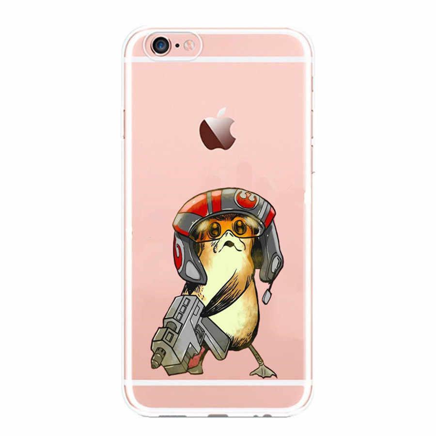 R2D2 BB8 Coffee Stormtrooper Star Wars Darth Vader silicone macio phone cases capa Para iphone 7 6S 6 8 plus 5S SE X Tampa