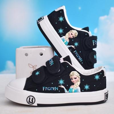 Disney Children's Frozen Princess Sophia Girls Casual Non-slip Soft Bottom Sports Shoes Sneakers Kids Shoes For Girl