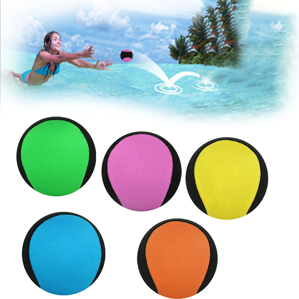 Water Bouncing Ball Kids Adults Splash Sports Surf Fidget Stress Relief Play Swimming Pool Games Toys Skim Accessories Beach