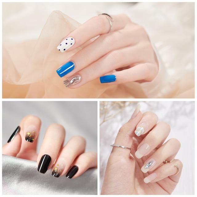 MORDDA 5 ML Nail Gel Polish For Manicure UV LED 60 Colors Nail Varnish Hybrid Semi Permanent Gel Lacquer Nail Art Design Tools 5