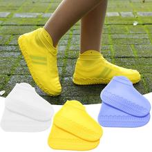 лучшая цена 1 Pair Waterproof Rain Shoes Covers Slip-resistant Rubber Rain Boot Overshoes Unisex Cycling Sport Reusable Silicone Shoe Cover