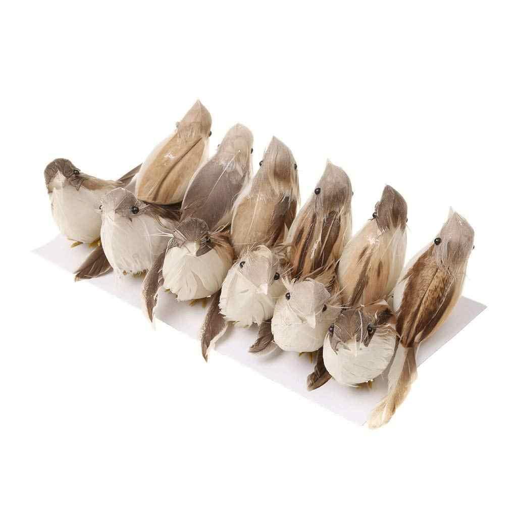 12 Chiếc Lông Vũ Nhân Tạo Chim Trang Trí Thủ Công Cưới Chim Bồ Câu Vật Trang Trí Chim Tô Điểm 3D Xốp Giả Bồ Câu Cây Trang Trí Giáng Sinh
