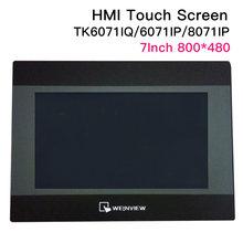 7 polegada weinview/weintek tk6071iq tk6071ip tk8071ip hmi tela de toque 800*480 usb ethernet nova interface de máquina humana