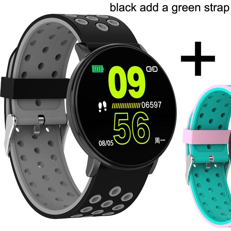 Спортивные Смарт-часы для мужчин, водонепроницаемые Смарт-часы для измерения артериального давления для женщин, монитор сердечного ритма, Bluetooth, умные часы для Android IOS - Цвет: W8C a pink strap