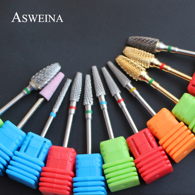 ASWEINA 8 Types To Choice Pro Super Quality Carbide Nail Drill Bit For Manicures Nail Art Tools Drills Nail Accessories
