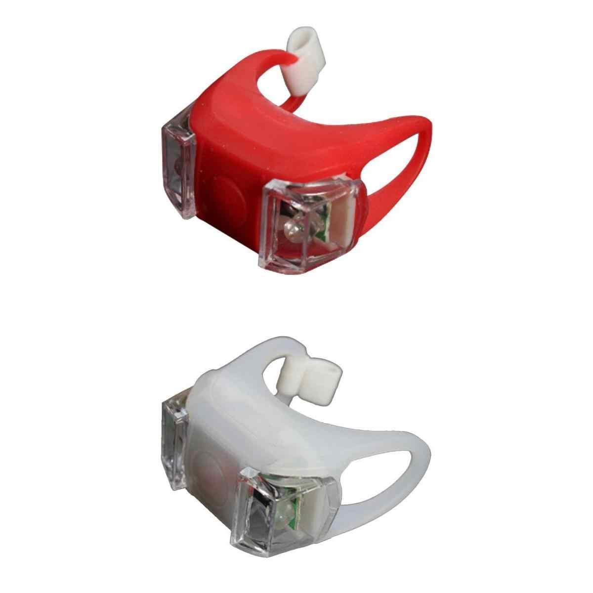 2x Led Fiets Licht Waterdicht Voor Achter, 3 Helderheid Modes, Voor Vtc Fietsen Wandelwagen Camping Rood + Wit