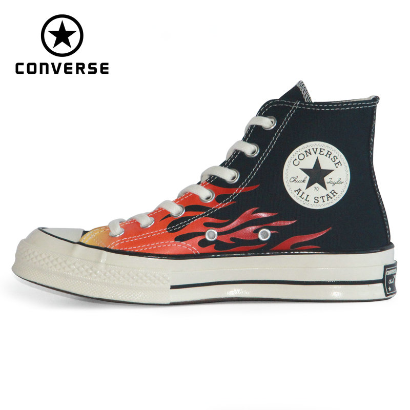 2020 Original New CONVERSE 1970S Chuck Taylor All Star Flame Red Man And Women Sneakers High Skateboarding Shoes 165024C
