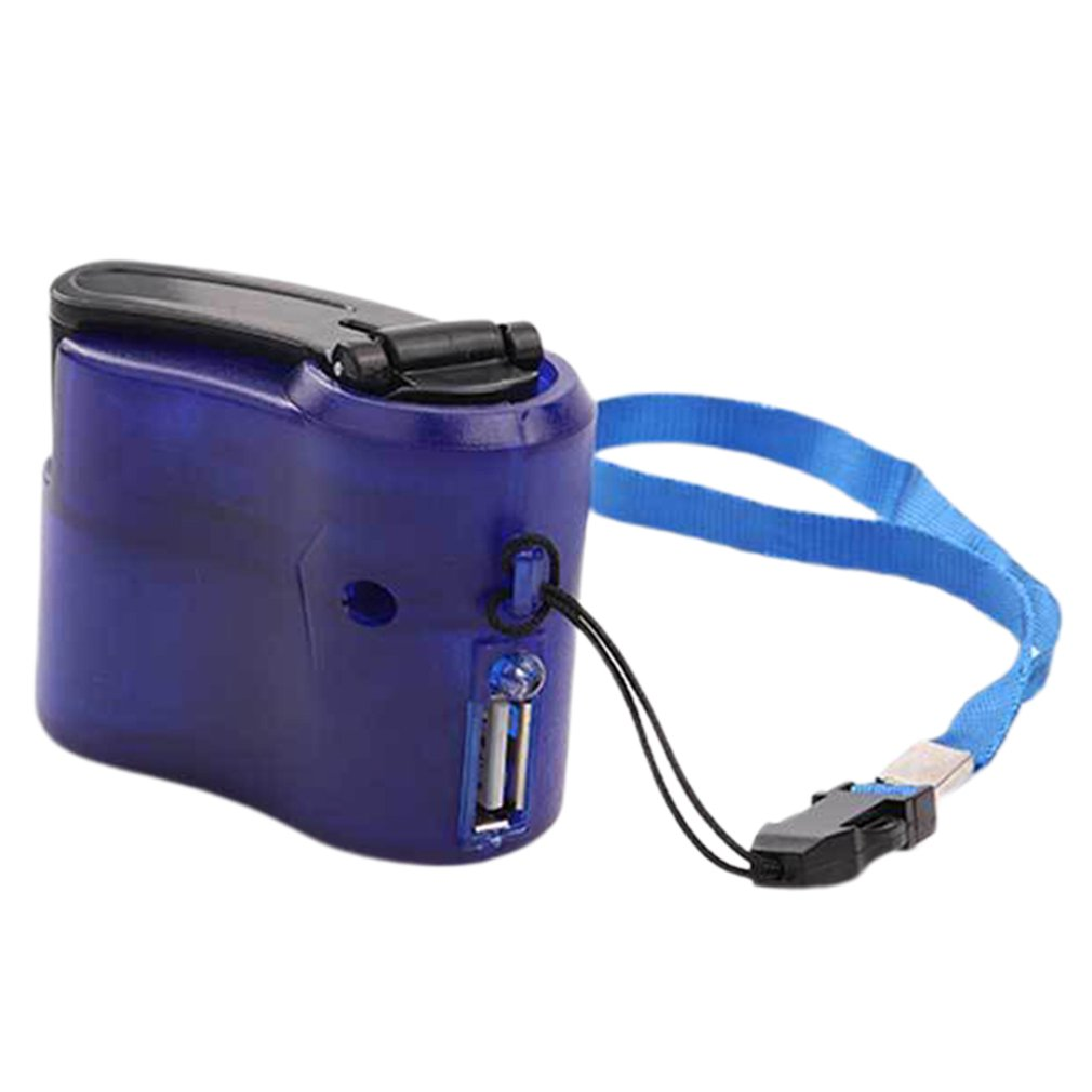Mobile Phone Emergency Power USB Hand Crank Charger Electric Generator Universal Mobile Charge Hand Dynamo Charging