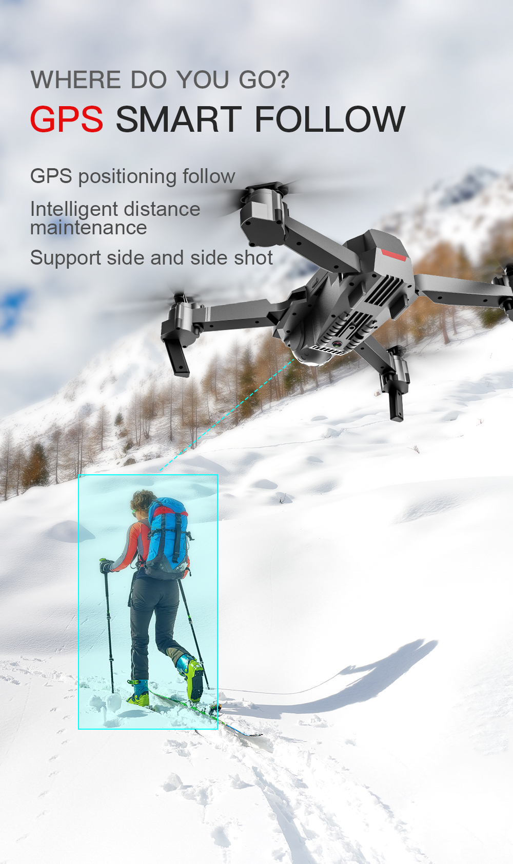 SG907 WIFI RC Quadcopter GPS Drone with 4K HD Dual Camera for Wide Angle Video Shooting 20