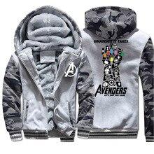 The Avengers Winter Thick Fleece Warm Jacket Camo