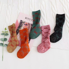 5 pairs of men and women general new spring and summer fashion breathable multicolor letters cotton