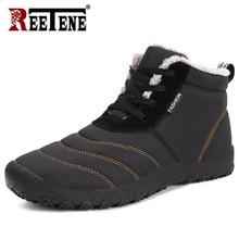 REETENE; очень теплые мужские зимние ботинки; теплые водонепроницаемые ботинки на меху для дождливой погоды; Плюшевые Мужские Зимние ботильоны; Botas Masculina