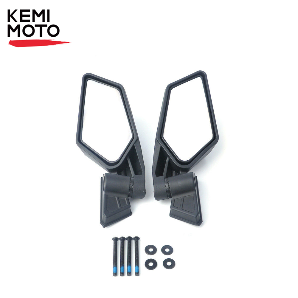 KEMiMOTO UTV Side View Mirrors Rearview Mirror Adjustable for Can Am Maverick X3 Max R X3 R  For Suzuki King Quad 450 Quadracer-in ATV Parts & Accessories from Automobiles & Motorcycles    1