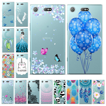 Silicon Phone Cases For Sony Xperia XZ1 XZ4 XZ2 Compact Mini Cases Transparent Soft Cover For Sony XA2 XA1 Ultra Plus Cover Back