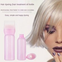 120ml Multicolor Plastic Hair Dye Refillable Bottle Applicator Comb Dispensing Salon Hair Coloring Hairdressing Styling Tool