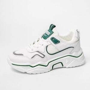 Image 5 - Zapatillas de deporte gruesas para mujer, zapatos vulcanizados informales de plataforma a la moda, zapato de cesta, deportivas, 2019