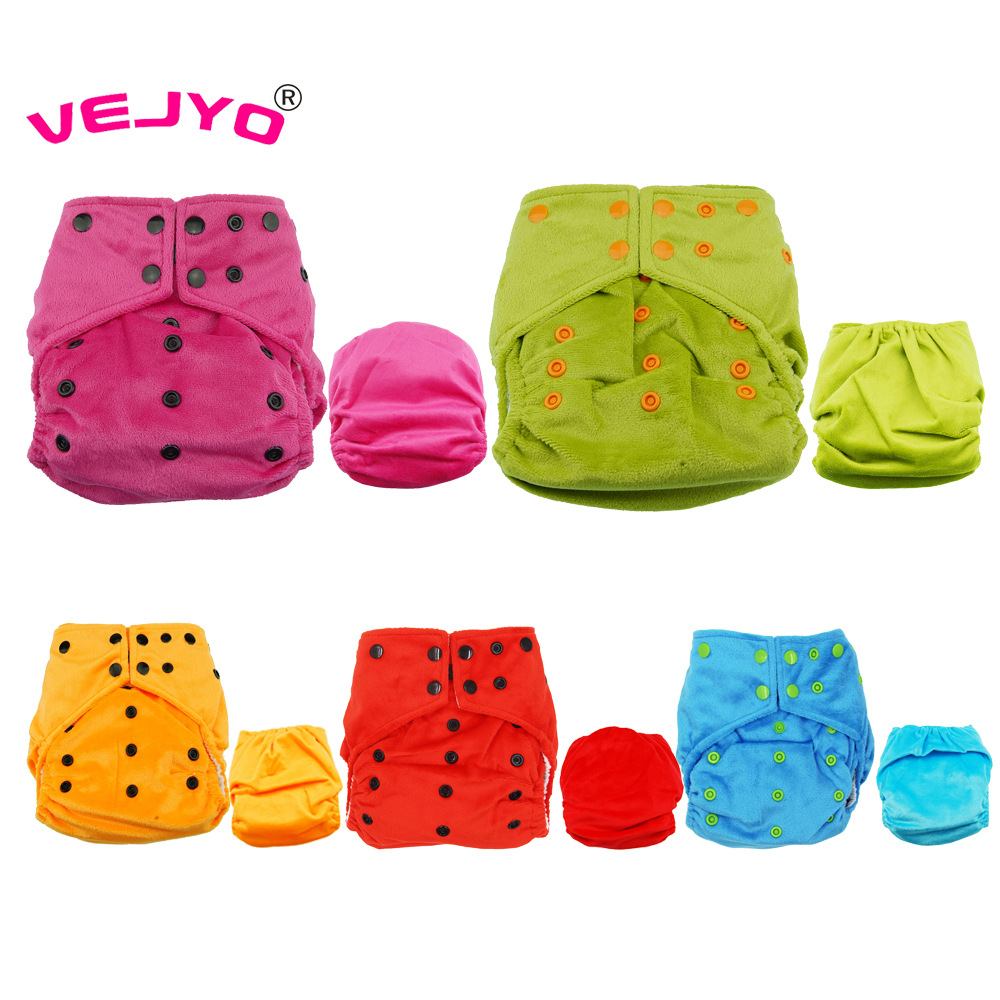 4 sets lot Breathable Baby Cloth Diapers Soft Minky Material AI2 Solid Color Cloth Diaper