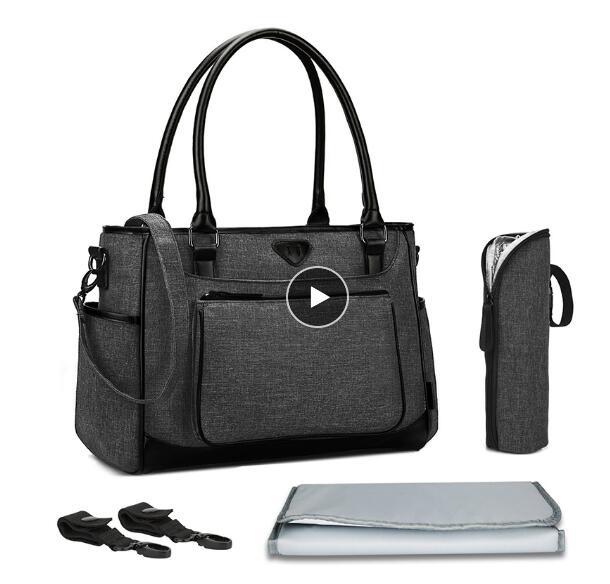BRINCH Baby Diaper Bag Fashion Designer Large Capacity Waterproof Stroller Bag Multifunction Maternity Mummy Bag For Baby Care