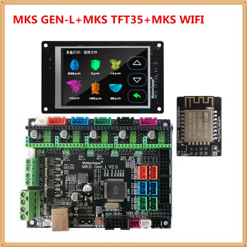 MKS GEN L 2.1 mainboard MKS WIFI module MKS TFT35 lcd TFT 35 display controller suite 3D printer control unit diy starter kit фото