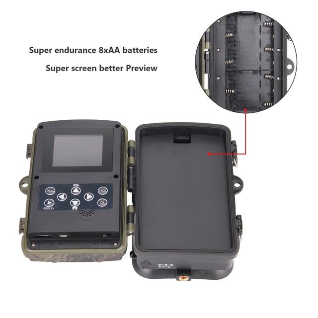16MP 1080P Wildlife Hunting Camera Photo Traps Wireless Trail Surveillance Cameras Night VisionTracking Cam HC800A