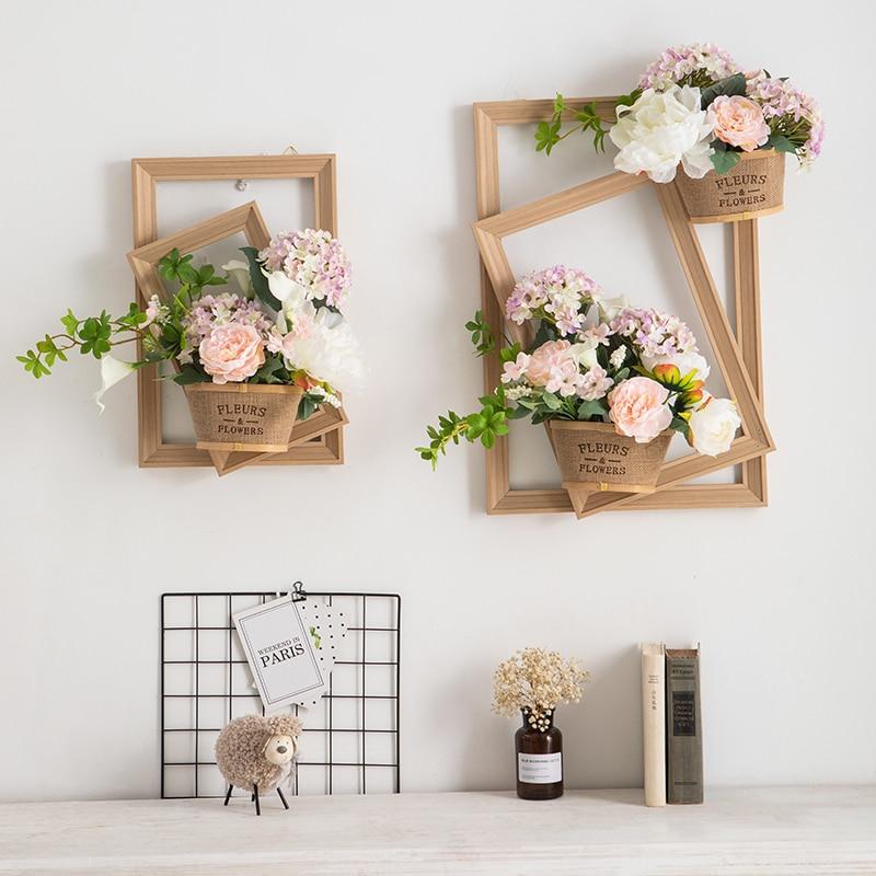 Kreatif Imitasi Bunga Meja Makan Dekorasi Dinding Ruang Tamu Hiasan Dinding Palsu Bunga Gambar Bunga Buatan Bunga Kering Aliexpress